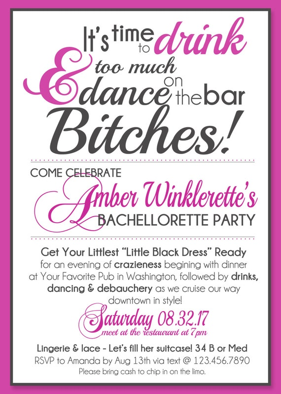 items similar to dance on the bar bachelorette party save the dates