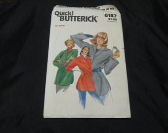 Quick! Butterick  6157  Size Medium  Misses Top  UNCUT pattern  Vintage Pattern