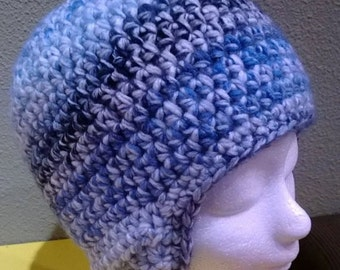 crochet hat with ear flaps [finland, adult size]