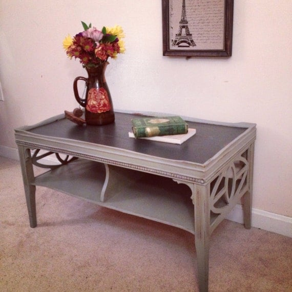 Rustic Chic Coffee Table Industrial Painted Furniture
