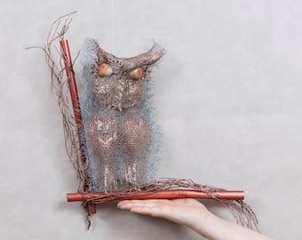 Wall Art Owl OOAK Wall Hanging Metal Sculpture Art Rustic Art