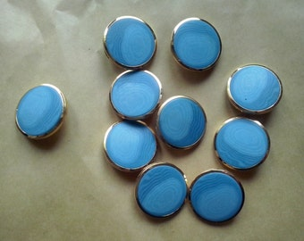 18 vintage blue, marbled, shank, beautiful buttons, shades of blue (20/31) (SAK 6)