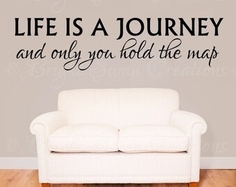 Life Is A Journey wall decal - wall quote - home vinyl wall decal - wall sticker