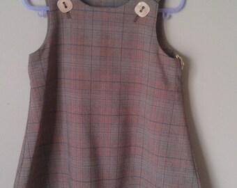 Girls Winter Pinafore Dress - size 2