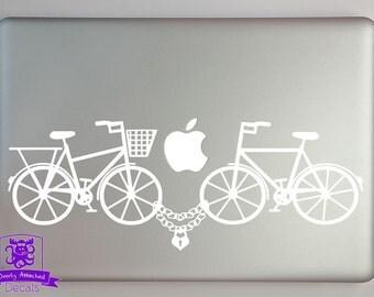 Bike Lock Love Macbook Laptop Decal