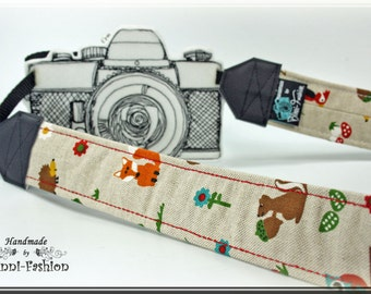 Camera strap - FOREST - camerastrap, light brown, vintag, photography DSLR