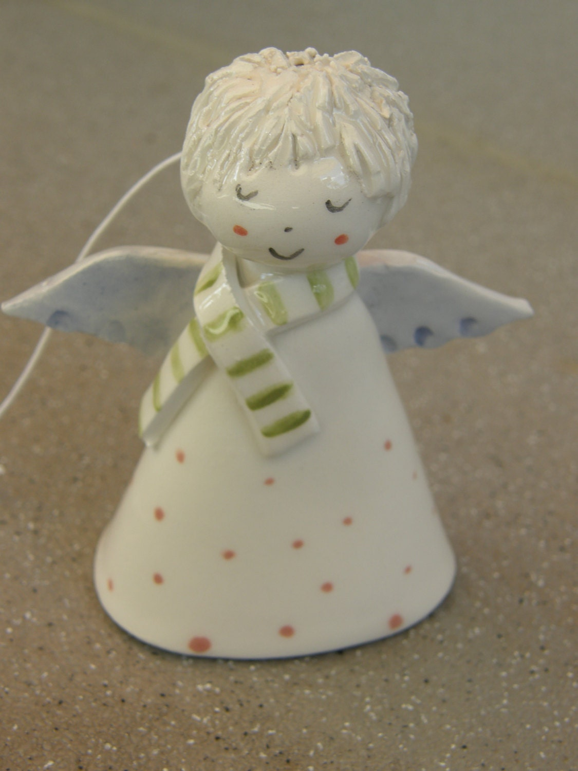 Christmas Pottery Barn Knock Offs And Others Too: Ceramic Angel Bell Christmas Angel Ceramic Bell White