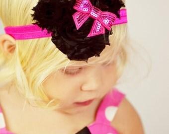 Minnie Mouse Headband - Hot Pink Headband - Baby Headband - Pink Hair Bow - Minnie Headband - Hot Pink Headband