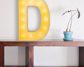 Vintage Inspired Marquee Light- Letter D, home decor, lighted letter, marquee letter, marquee light, letter, vintage, initial, wall art