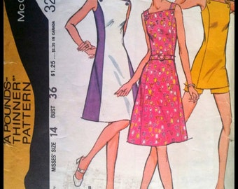 McCall's 3201  Misses' Dress or Tunic And Shorts  Size 14