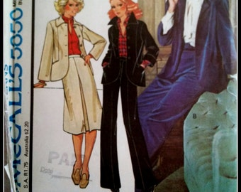 McCall's 5850  Misses' Jacket, Skirt And Pants  Size 16  UNCUT