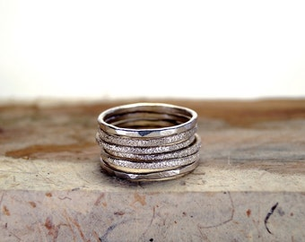 Stacking rings, Stacking ring set, stacking rings silver, Silver stacking ring, Stackable Rings, Rings, Jewelry, Engraved stacking rings