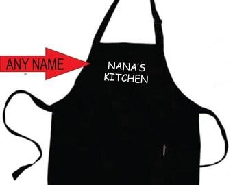 Nana Thanksgiving Apron  Nana's Kitchen Apron Grandmother Grandma Christmas Gifts  Nana Gift  Gifts for Nana. ***Customized With ANY Name