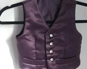Cogling's Purple Satin Waistcoat - For Child aged 3