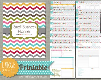 Small Business Planner {Printable} Set   Sized Large 8.5  Free Business Printables
