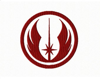 Holy Order of Jedi Knights - JEDI ORDER Logo/Insignia~ Machine Embroidery Design in 2 sizes - Instant Download