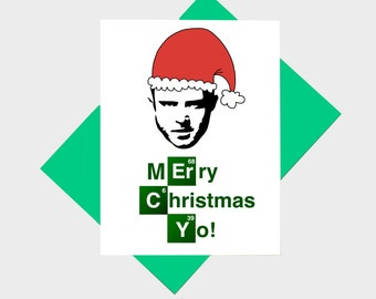 Merry Christmas Yo - Funny Holiday Card - Funny Christmas Card - Parody Card - Funny Xmas Card - Merry Christmas TV Show Card - Funny Card