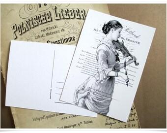"post card ""music"""