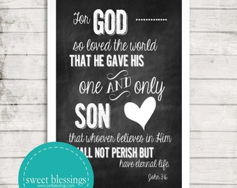 John 3:16 Instant Download