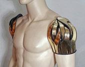 futuristic spartan shoulder armour shoulder cuff pauldron epaulet  powldron custom made for men or women