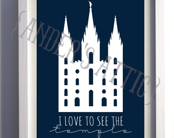 """LDS """"I Love To See The Temple"""" Digital Download"""