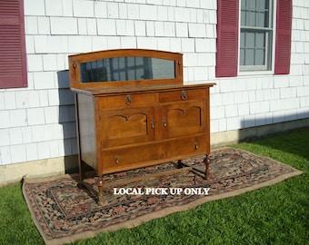 Antique Oak Buffet Server Sideboard