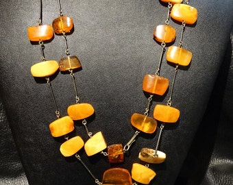 Baltic Butterscotch Amber Necklace Vintage 41 grams