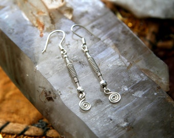Silver Wire Wrap Earrings (.925 & .999)