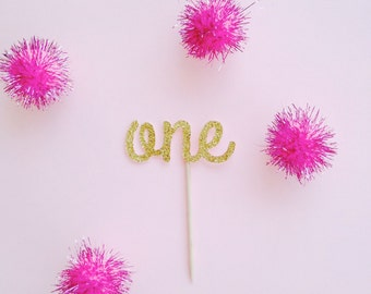 One Cupcake toppers- 12 Per Order. Other numbers available!!