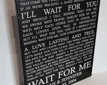Wedding Anniversary Gift Idea. Custom Canvas Art with your Vows, Love Story, Lyrics, Poem, Bible Verse. Special Wall Decor.