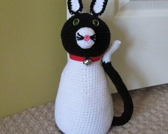 Amigurumi Black Cat Door Stopper : Popular items for cat doorstop on Etsy