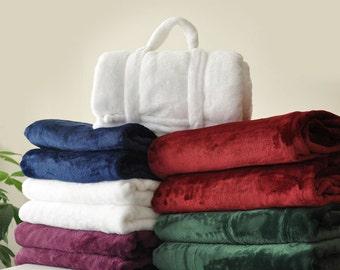 Extra Thick Throw Blanket - Fleece Throw Blanket - 86 inch Throw Blanket