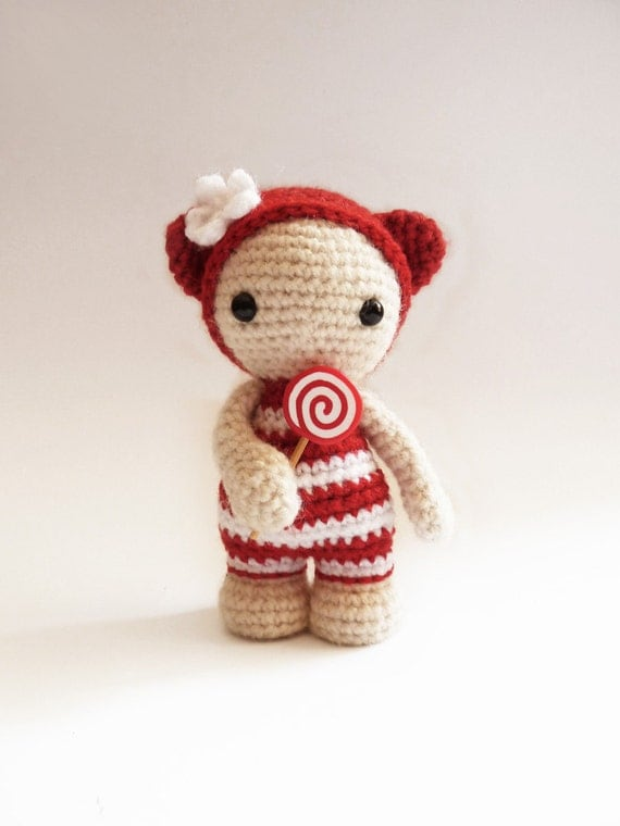 Items similar to Miss Lollipop the cute amigurumi doll ...
