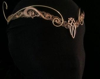 Medieval elven Pagan Viking crown tiara circlet headpiece tiara celtic Dragon larp
