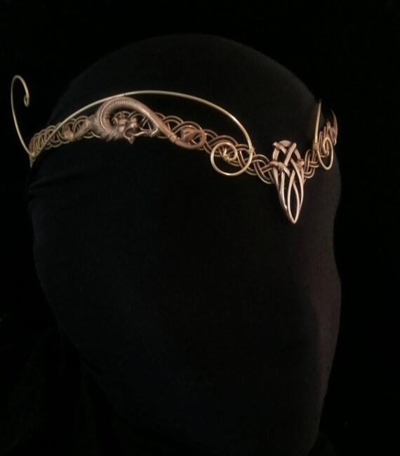 Top La Couronne elfique médiéval Viking Pagan tiare diadème casque BE51