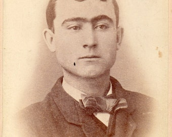 Antique Photo of Man with Unibrow