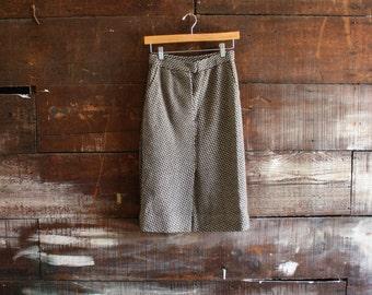 vintage 70s wavy wool midi skirt