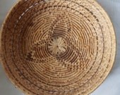 Native American hand woven coil basket southwestern