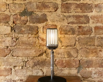 Vintage Astatic WR-20 Art Deco Upcycled Microphone Lamp