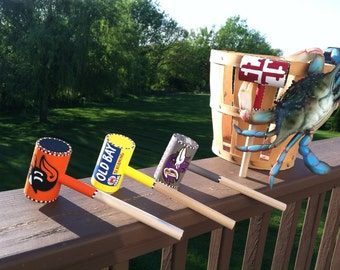 4 Crab Mallets Custom - Baltimore Ravens, Baltimore Orioles, Maryland Flag and Old Bay