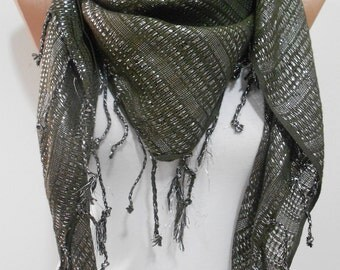 Sparkle Scarf Shawl Cowl Scarf Sparkly Fringe Scarf Shimmer Scarf Winter Scarf Women Fashion Accessories Christmas Gift For Her For Women
