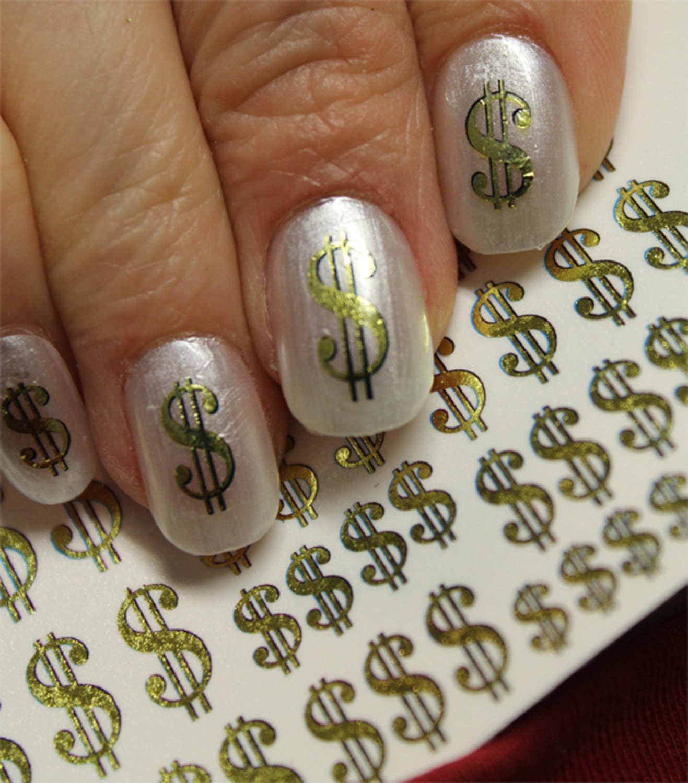 38 gold dollar signs nail art dsg poker casino money bling nails 480 prinsesfo Images