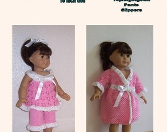 "PDF knitting pattern for 18"" doll, American Girl,Gotz, and similar size dolls."
