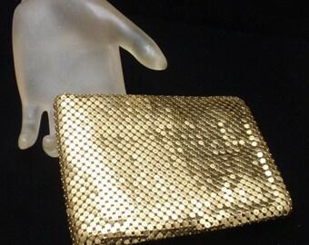 Whiting & Davis Golden Mesh Fold-Over Wallet Vintage
