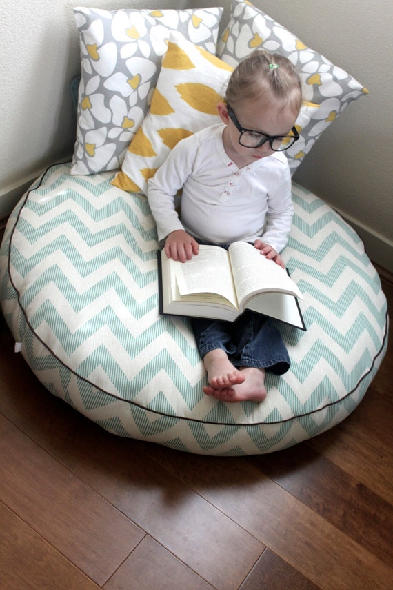 Floor Nanny Pillow For Baby : The Reader Giant Floor Cushion Chevy Lagoona by sydandstitch