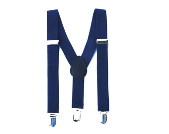 Navy Boys Suspenders, Navy Kids Suspenders, Navy Baby Suspenders, Navy Toddler Suspenders, Suspenders, Navy braces, navy wedding,