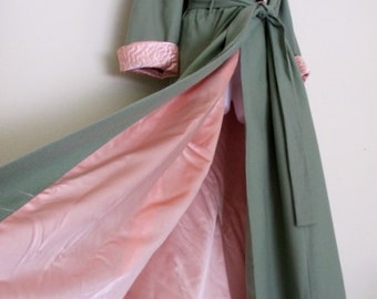 Pink Satin Robe I Magnin 1940's Robe 1930's Robe Boudoir Magnificent Hollywood Regency Robe Silk