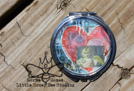 Compact Pocket Mirror - Mixed Media