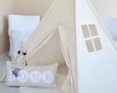 LARGE Natural Canvas, Teepee, Play Tent, Play House, Nursery, Teepee Tent, Kids Teepee, Indoor