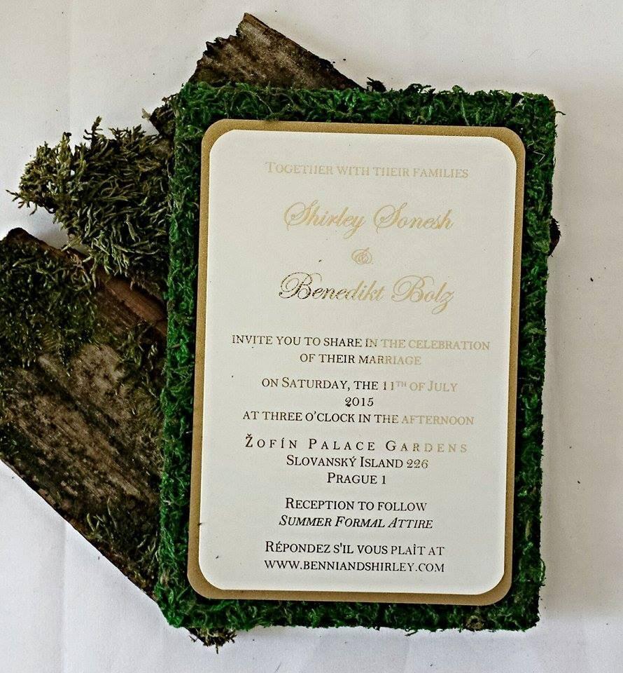Outdoor Wedding Invitations: Rustic Garden Moss Wedding Invitation Custom Wedding